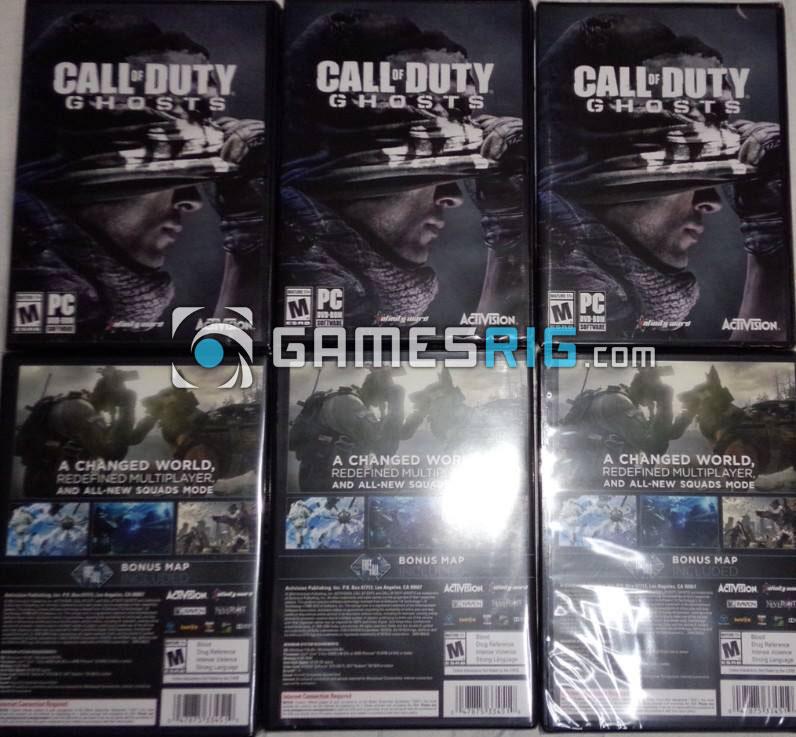 สต๊อกสินค้าเกม Call of Duty: Ghosts