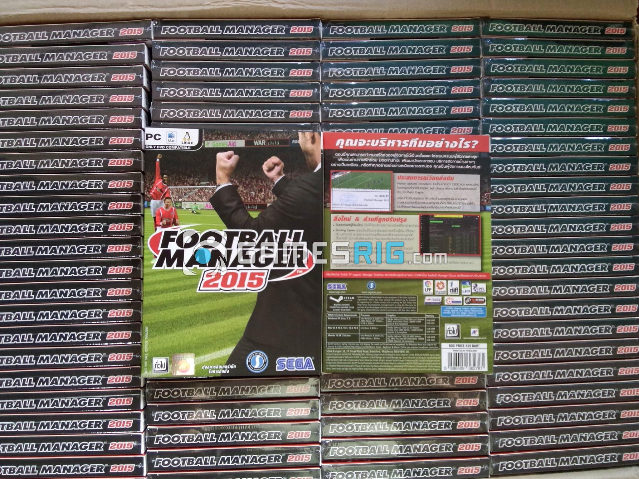 สต๊อกสินค้าเกม Football Manager 2016