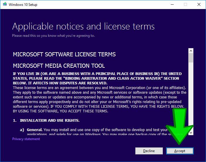 วิธีการติดตั้ง Windows 10