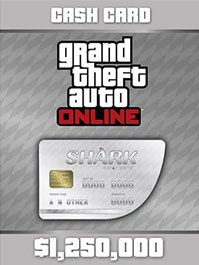 Grand Theft Auto Online: Great White Shark Cash Card - 1,250,000$ PC