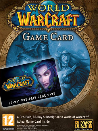 World of Warcraft 60 Days Time Card US